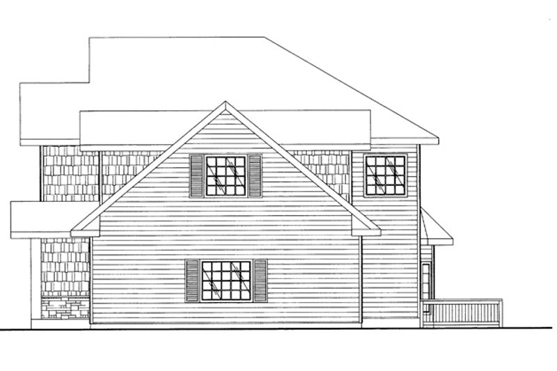Traditional Exterior - Other Elevation Plan #117-837 - Houseplans.com