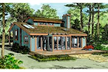Architectural House Design - Contemporary Exterior - Rear Elevation Plan #314-243