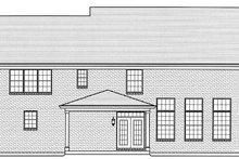 Country Exterior - Rear Elevation Plan #46-862