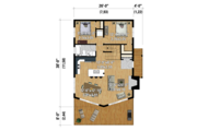 Cabin Style House Plan - 3 Beds 1 Baths 1245 Sq/Ft Plan #25-4586 Floor Plan - Main Floor Plan