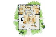 Country Floor Plan - Main Floor Plan Plan #942-13