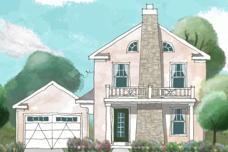 House Plan Design - Colonial Exterior - Front Elevation Plan #1053-37
