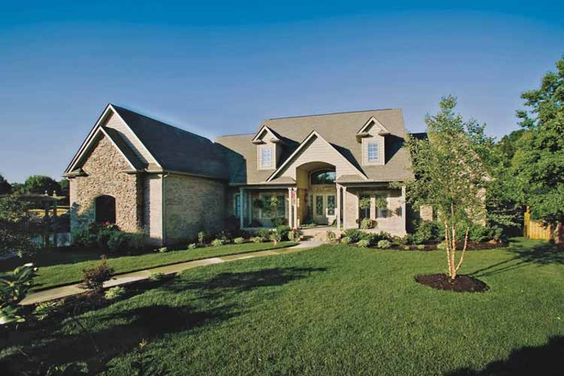 Architectural House Design - Country Exterior - Front Elevation Plan #929-755