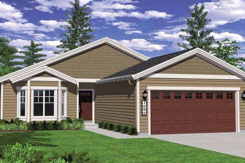 Craftsman Exterior - Front Elevation Plan #943-20