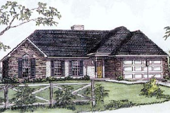 European Exterior - Front Elevation Plan #16-101