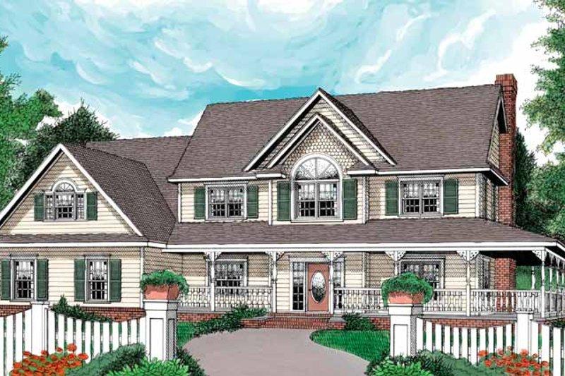 Architectural House Design - Victorian Exterior - Front Elevation Plan #11-263
