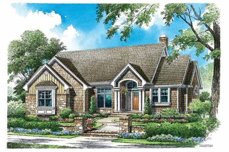 Craftsman Exterior - Front Elevation Plan #929-774