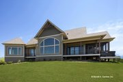 Ranch Style House Plan - 3 Beds 2.5 Baths 3188 Sq/Ft Plan #929-655 Exterior - Rear Elevation