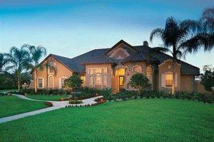 Architectural House Design - Mediterranean Exterior - Front Elevation Plan #1039-5