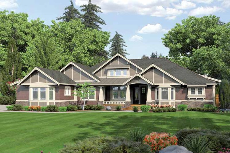 Ranch Exterior - Front Elevation Plan #132-554