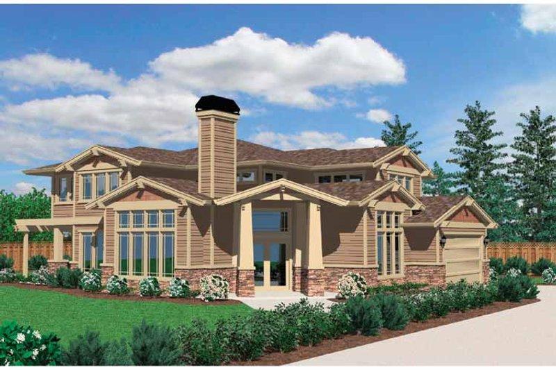 Prairie Exterior - Front Elevation Plan #509-339 - Houseplans.com