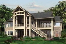 Craftsman Exterior - Rear Elevation Plan #132-561
