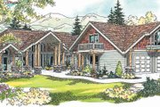 Craftsman Style House Plan - 4 Beds 4.5 Baths 4232 Sq/Ft Plan #124-621 Exterior - Other Elevation