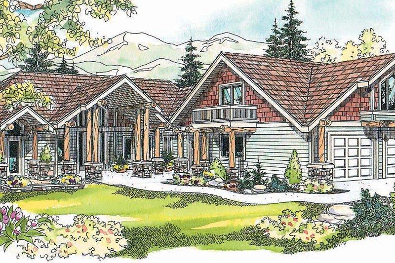 Craftsman Exterior - Other Elevation Plan #124-621 - Houseplans.com