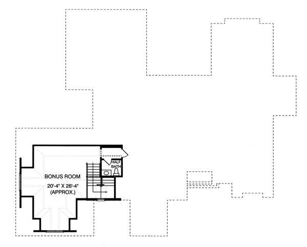 Craftsman Floor Plan - Upper Floor Plan Plan #413-130