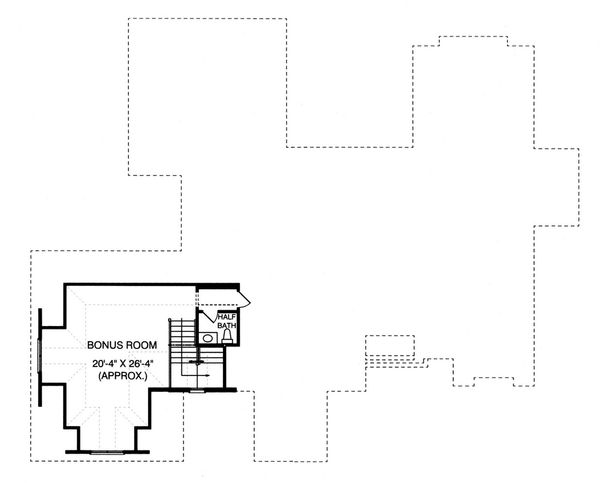 Craftsman Floor Plan - Upper Floor Plan Plan #413-130
