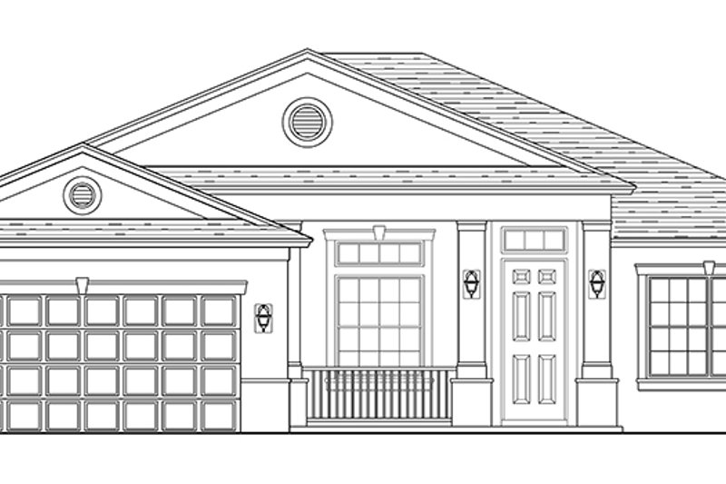 Traditional Exterior - Front Elevation Plan #1058-117 - Houseplans.com