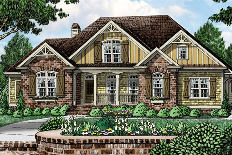 House Plan Design - European Exterior - Front Elevation Plan #927-961