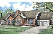 Home Plan - Ranch Exterior - Front Elevation Plan #17-2967