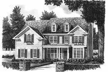 House Design - Colonial Exterior - Front Elevation Plan #927-953