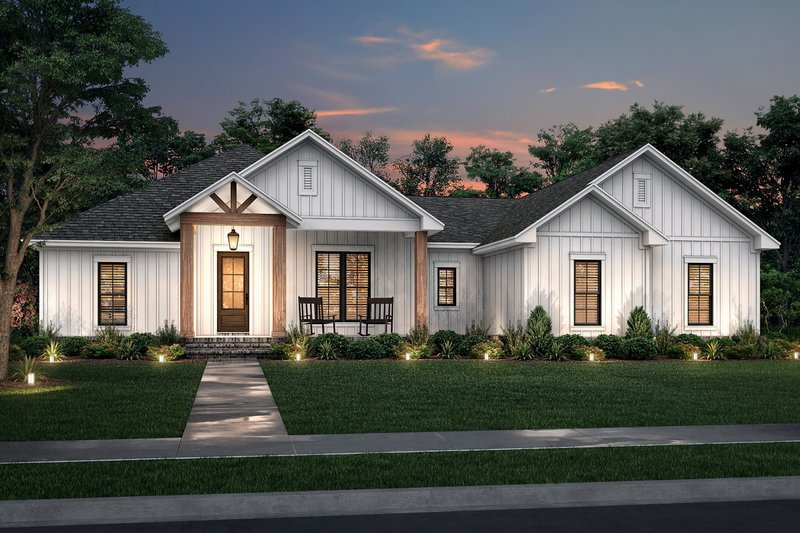 Farmhouse Style House Plan - 3 Beds 2.5 Baths 2339 Sq/Ft Plan #430-234 Exterior - Front Elevation