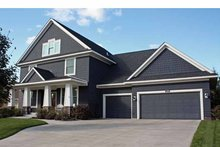 Architectural House Design - Country Exterior - Front Elevation Plan #51-1076
