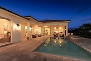 Mediterranean Style House Plan - 4 Beds 4.5 Baths 4287 Sq/Ft Plan #930-508 Exterior - Rear Elevation