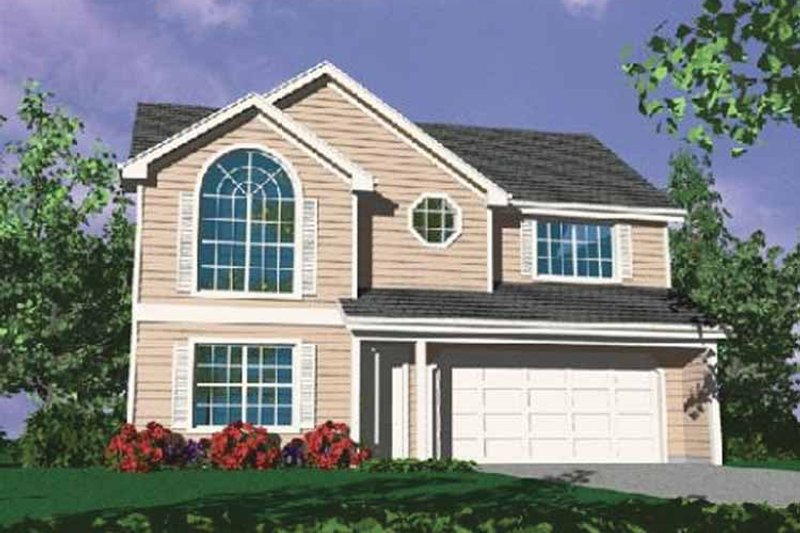 Prairie Exterior - Front Elevation Plan #509-186 - Houseplans.com