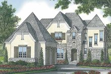 House Plan Design - European Exterior - Front Elevation Plan #453-570