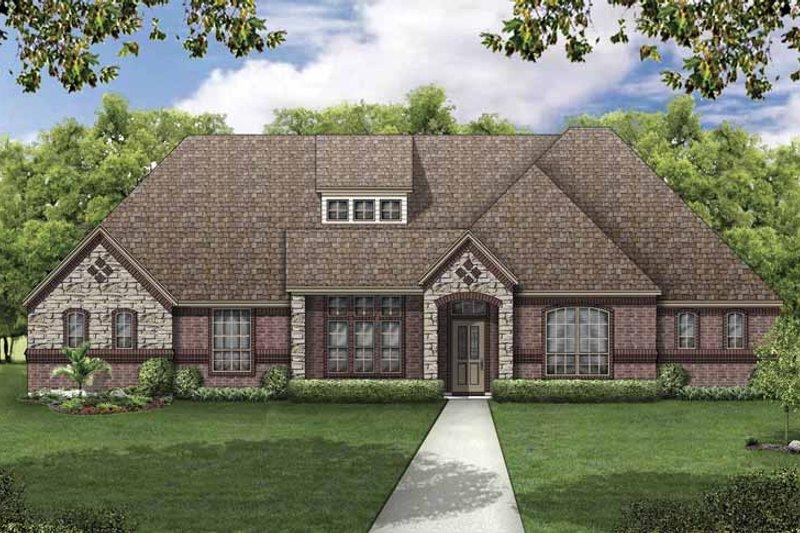 House Plan Design - European Exterior - Front Elevation Plan #84-776