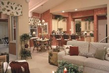 Mediterranean Interior - Family Room Plan #417-746