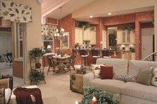 Mediterranean Interior - Family Room Plan #417-746