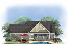House Design - Craftsman Exterior - Rear Elevation Plan #929-879