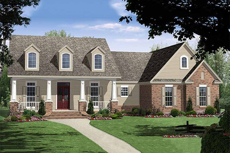 Country Exterior - Front Elevation Plan #21-192 - Houseplans.com