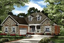 Architectural House Design - Traditional Exterior - Front Elevation Plan #17-2887