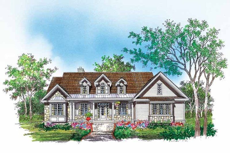 Dream House Plan - Country Exterior - Front Elevation Plan #929-618