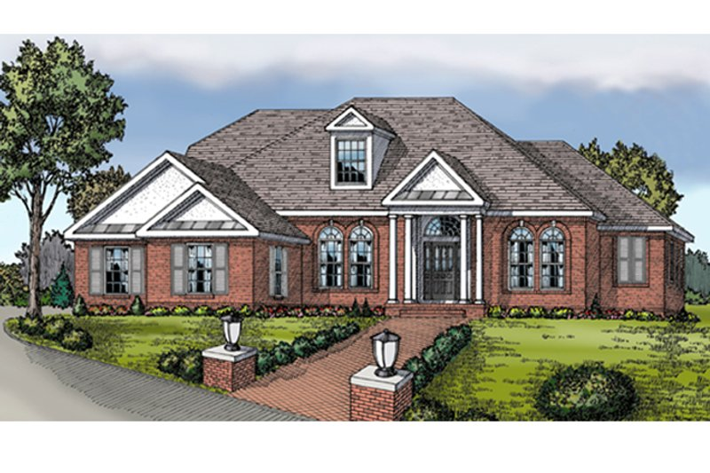Colonial Exterior - Front Elevation Plan #314-274 - Houseplans.com