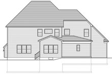 Colonial Exterior - Rear Elevation Plan #1010-168