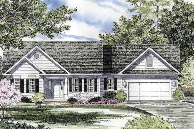 Ranch Exterior - Front Elevation Plan #316-170 - Houseplans.com