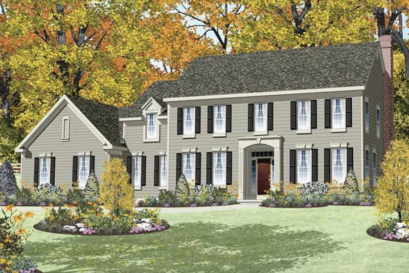 Traditional Exterior - Front Elevation Plan #328-455 - Houseplans.com