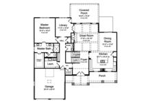 Craftsman Floor Plan - Main Floor Plan Plan #46-859