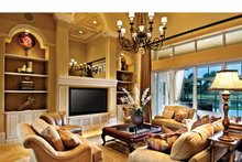 Mediterranean Interior - Family Room Plan #930-440
