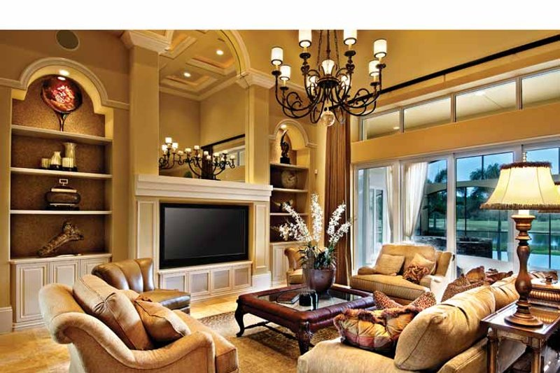Mediterranean Interior - Family Room Plan #930-440 - Houseplans.com
