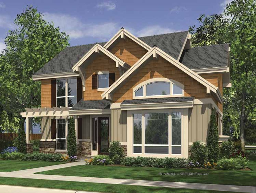 Craftsman style house plan 4 beds 2 5 baths 2441 sq ft for Craftsman vs mission style