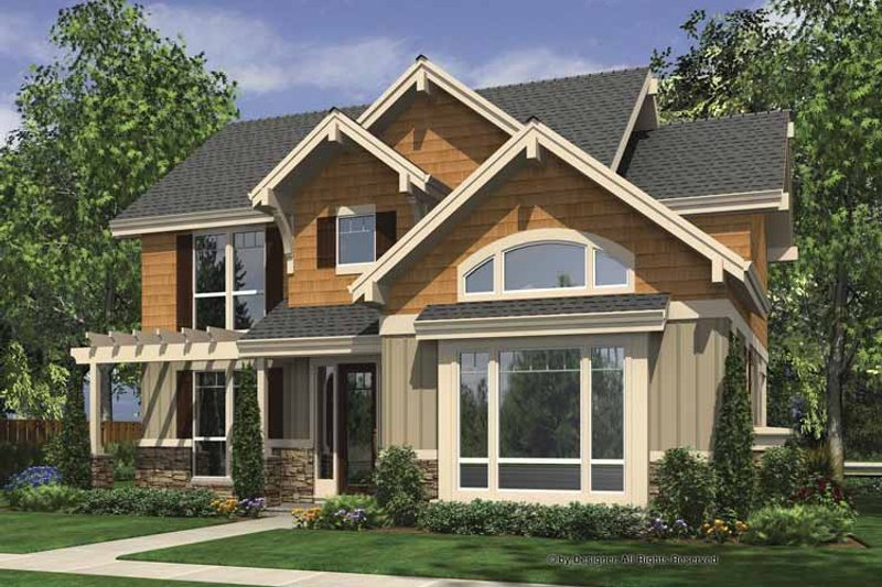 Dream House Plan - Craftsman Exterior - Front Elevation Plan #48-873