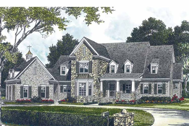 Craftsman Exterior - Front Elevation Plan #453-428 - Houseplans.com