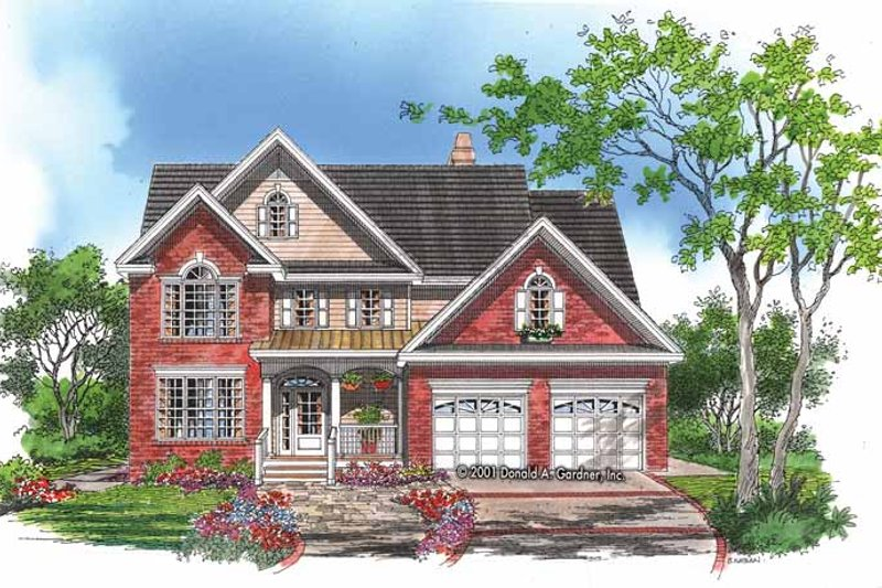 Country Exterior - Front Elevation Plan #929-646