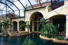 House Plan Design - Mediterranean Exterior - Rear Elevation Plan #930-34
