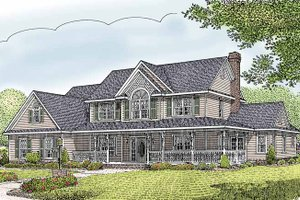 Architectural House Design - Country Exterior - Front Elevation Plan #11-274