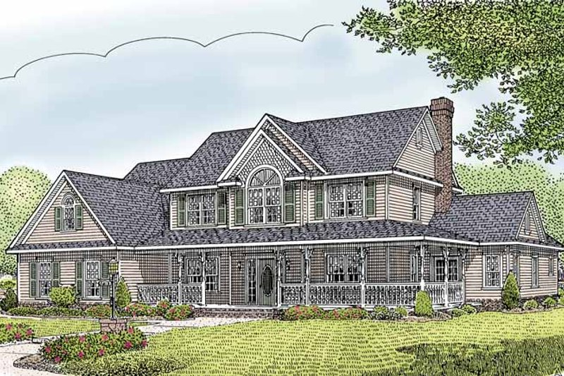 House Plan Design - Country Exterior - Front Elevation Plan #11-274